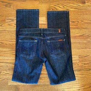 7 For All Mankind 'Colette' Bootcut Jeans Sz 27